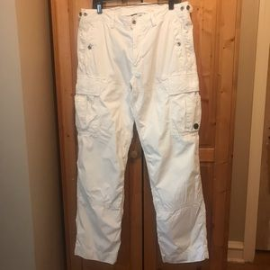 Polo by Ralph Lauren white cargo pants size